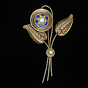 1940s Flower Brooch Pin