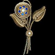 1940s Flower Brooch Pin