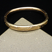 Baby Infant Bangle Bracelet Gold Filled Hallmarked