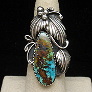 Turquoise Sterling Silver Ring American Southwest