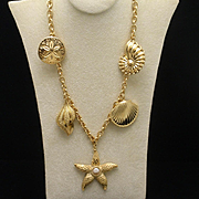 Seashells Charm Necklace Kenneth Jay Lane for Avon