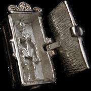 Skeleton in a Closet Charm Sterling Silver Vintage Mechanical