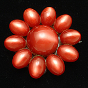 Moonglow Flower Brooch Pin Vintage