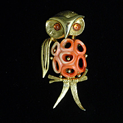 Owl Bird Brooch Pin Vintage Park Lane