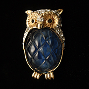 Owl Bird Scatter Pin by Carolee