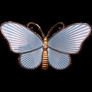 Butterfly Pin Sterling Silver Enamel Ivar Holth Norway Vintage