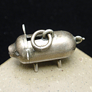 Piggy Bank Charm Vintage Sterling Silver