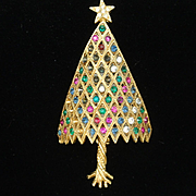 Corocraft Christmas Tree Pin Vintage Xmas