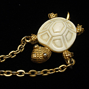 Turtle Necklace Vintage Trifari