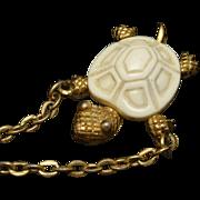 Turtle Necklace Vintage Trifari