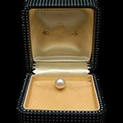 Mikimoto Pearl Tie Tack in Original Box