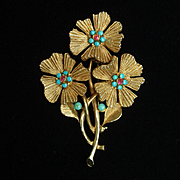 Triple Flower Pin Vintage Capri