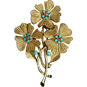 Triple Flower Pin Vintage Capri