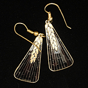 Wheat Design Earrings Sterling Silver Wires