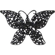 Black Butterfly Pin Vintage Weiss Brooch