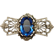 Large Blue Stone in Pretty Vintage Pin