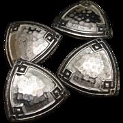Hammered Sterling Silver Cuff Links Vintage