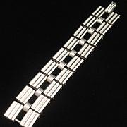 Vintage Stacking Bracelet Lightweight Silver Tone Metal