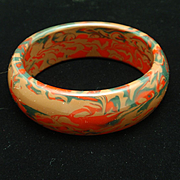 Resin Bangle Bracelet Mottled End-of-Day Design
