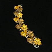 Lisner Fall Colors Leaves Bracelet Vintage