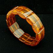 Amber Stretch Bracelet Vintage