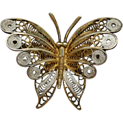 Butterfly Pin 800 Silver Italy