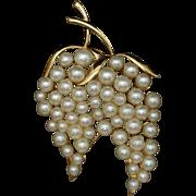 Marvella Imitation Pearls Brooch Pin Vintage