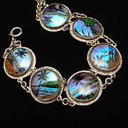 Butterfly Wings Scenic Bracelet Vintage Brazil