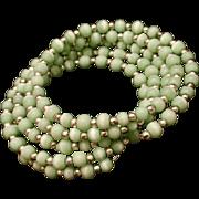 Green Moonglow Wrap Bracelet