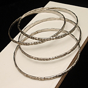 Sterling Silver Spacers Bangles Mexico