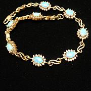 Sterling Silver Opal CZ Bracelet