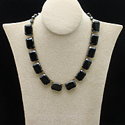 Black Stones Vintage Necklace