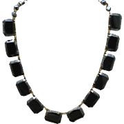 Black Stones Vintage Necklace