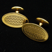 Ballou Vintage Cuff Links Subtle Scrolled Design