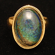 Dreamy Stone in Vintage Lady's Ring