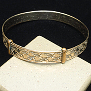 Antique Bracelet Gold Filled Expandable