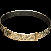 Antique Bracelet Gold Filled Expandable