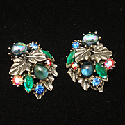 Art Multi-Stone Vintage Earrings