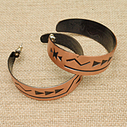 Large Copper Hoop Earrings Vintage