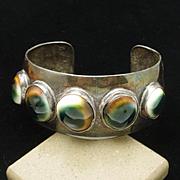Cuff Bracelet with Large Operculum Vintage