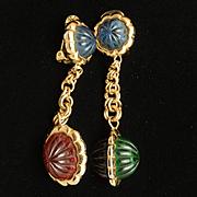 Christian Dior Drop Earrings Vintage