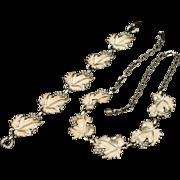 Leaf Design Necklace and Bracelet Set Vintage Sarah Coventry