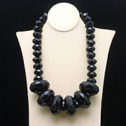 Chunky Black Necklace from Joan Rivers Collection