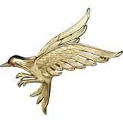 Bird in Flight Brooch Pin Vintage Trifari