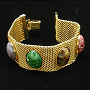Colorful Cabs Mesh Bracelet Vintage Sarah Coventry