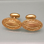 Vintage Fixed Back Cuff Links