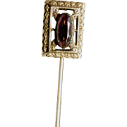 Vintage Stick Pin with Purple Stoe