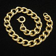 """Gold Filled Charm Bracelet Chain Vintage 7 1/4"""""""