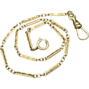 Gold Filled Watch Chain Vintage Make Necklace or Bracelet