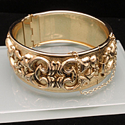 Whiting & Davis Hinged Bracelet Vintage